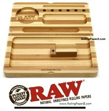 STRIPED RAW Rolling Papers Bamboo BACKFLIP Magnetic Rolling Tray Stash Box ryo