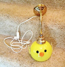 Vintage NWT Swedish Strombergshyttan Art Glass Yellow Chicken Wall Light