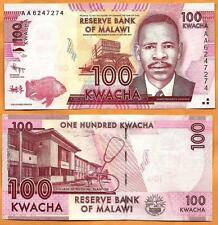 Malawi 2012 GEM UNC 100 Kwacha Banknote Money Bill P- 59