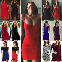 Sexy Womens Short Mini Dress Clubwear Evening Party Ladies Cut Out Tunic Dresses