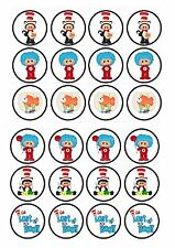 24 icing cake toppers decorations ND2 Similar to Cat in the Hat