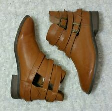 Forever 21 Strappy Buckled Ankle Cutout Boots Booties Women's Size 9 Shoes