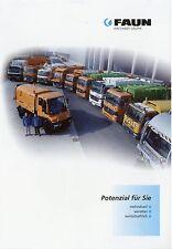 Prospekt Faun 2002 Müllfahrzeuge Müllsammelfahrzeuge Kommunalfahrzeuge LKWs