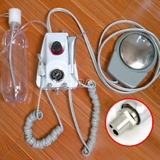 Dental Lab Portable Air Turbine Unit fit Compressor 2Holes Handpiece with Syring