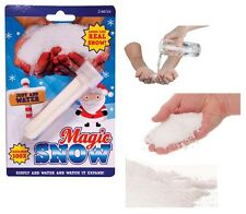 MAGIC SNOW Powder Fake Fluff Instant Christmas Xmas Snowman Add Water Artificial