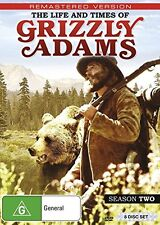 THE LIFE & TIMES OF GRIZZLY ADAMS : SEASON 2  - DVD - UK Compatible -sealed