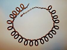 Unsigned Renoir Copper Loops Loopy Necklace