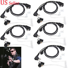 5x Surveillance Translucent Tube Headset Earphone Earpiece for Motorola Radio