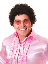 AFRO wig BLACK 70s 60s 118 118 stag DISCO fancy dress