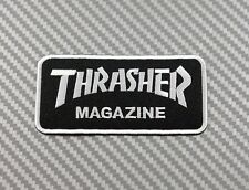 Embroidered Patch Iron Sew Logo Emblem skateboard THRASHER sport extream
