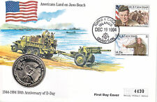 19 DECEMBER 1994 D DAY JUNO BEACH COMMEMORATIVE COIN LIMITED EDITION COVER SHS