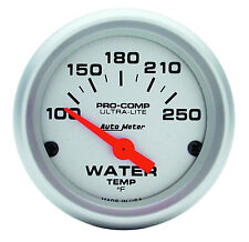"Auto Meter Ultra-Lite Electric Water Temperature Gauge 2-1/16"" (52mm) 100-250Deg"