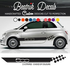 FIAT 500 DECALS Side Stripe Sticker Abarth Racing Graphic Vinyl HIGH QUALITY