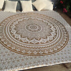 Indian Ombre Mandala Bedding Throw Hippie Bedspreads Queen Size Tapestry Blanket