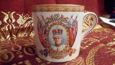 1936 1937 CORONATION CROWNED KING EDWARD VIII GRINDLEY CREAMPETAL 6 ounce  MUG