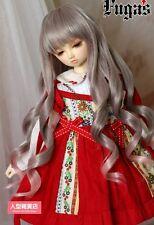 BJD Doll Hair Wig 7-8 inch 18-20cm 1/4 MSD AOD DF MK DZ DOD LUTS grey pink F114