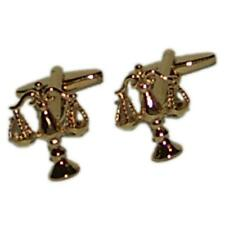 Golden Scales of Justice Cufflinks Court Barrister Judge Lawyer Present Gift Box