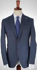 NWT EIDOS by iSAIA SUIT wool blue deconstructed str handmade Italy eu 48 us 38