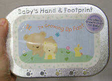 Baby's Hand and Footprint Molding Kit in Box Mold Plaster Easel Colored Chalk