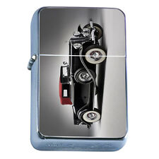Windproof Refillable Flip Top Oil Lighter Vintage Car D2 Classic Antique