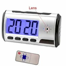 Mini Camera Alarm Clock Video Recorder Hidden Nanny Cam DVR Motion Detection