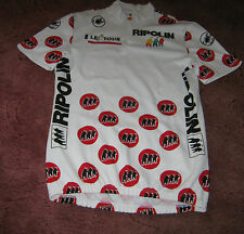 "TOUR DE FRANCE RIPOLIN POLKA DOT KOM CASTELLI ITALIAN CYCLING JERSEY [41""]"