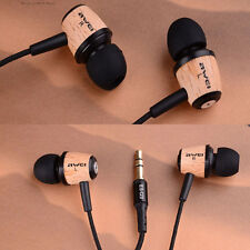 AWEI Q9 Super Bass Wooden in Ear Headphone Earphone Earbud For Phone MP3 Laptop
