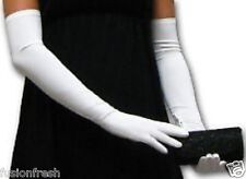 Ladies Women 1 Pair Hot Summer Full Hand Gloves Sleeves Bike Activa White Colour