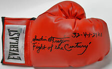 "Smokin Joe Frazier ""Fight of the Century 32-4-1 27 KOs"" Signed Boxing Glove COA"