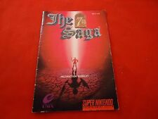 The 7th Saga Super Nintendo SNES Instruction Manual Booklet ONLY Seventh