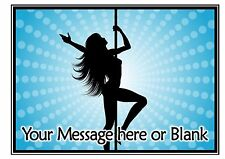 Stripper pole dancer dancing ND4 personalised A4 cake topper icing sheet