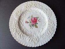 "Spode Bridal Rose / Savoy Billingsley Rose Gold Trim Dinner Plate - 10 1/2"" - #5"