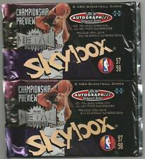 1997-98 Skybox Metal Universe Championship Preview 2 Pack Lot- PMG Autographics?