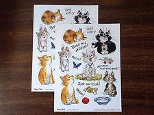 2 Suzy's Zoo sticker sheets 9711: Kitties Cats