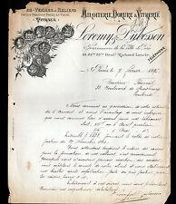 """PARIS (XI°) VITAUX MIROITERIE DORURE VITRERIE """"LOREMY & DUBOSSON"""" en 1895"""