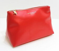 GIVENCHY Parfums BIG Trapezium ROSSO Pouch / Cosmetic / make-up bag con Cerniera Dorata