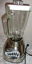 VINTAGE OSTER 12 SPEED CHROME FINSHED W GLASS JUG BLENDER 450WATTS MODEL # 564A