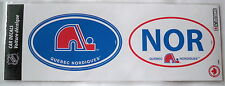 2 X Car Bumper or Window STICKERS * Quebec Nordiques * NHL decals autocollants