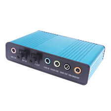 External Optical USB 6 Channel 5.1 Audio Sound Card Adapter External Sound Card