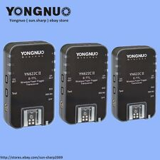 YONGNUO 3pcs YN622C II  Wireless TTL Flash Trigger for Canon EOS 5D 10D 20D 30D