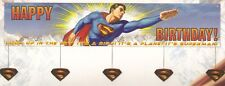 "Wholesale ! Superman ! B'day Party Banner    60"" X 12"""