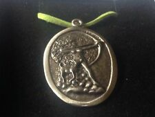 """Diana Goddess code dr88  Made From English Pewter On 18"""" Green Cord Necklace"""