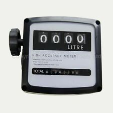 4 digital Diesel Fuel Oil Flow Meter Counter 3.5 bar High Accuracy 1%