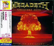 MEGADETH GREATEST HITS: BACK TO THE START 2016 JAPAN SHM HIGH FIDELITY CD - NEW!