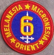 Embroidered Military Patch USMC 6th Marine Division NEW