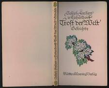 Joseph Freiherr von Eichendorff Trost der Welt Gedichte