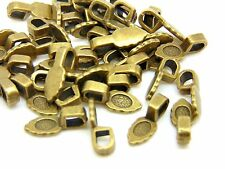 40 x 15mm Antique Bronze Glue on Bails Pendant Cabochon Craft Beading V184
