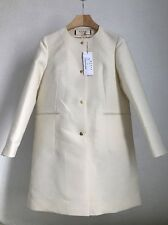 MARNI DESIGNER LADIES DUSTER COAT MAC BNWT RRP£884 WHITE WOOL SILK UK 10 IT 42