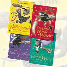 Worst Witch Series 4 Books Collection By Jill Murphy Set Saves the Day NEW BRAND