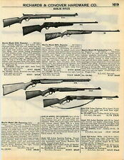 1951 ADVERT Mossberg Carbine Style Repeater Automatic Rifle Marlin Repeating